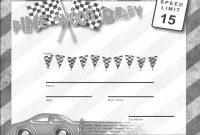 Pinewood Derby Certificate Template 12