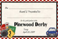 Pinewood Derby Certificate Template 9
