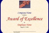 Powerpoint Award Certificate Template 6