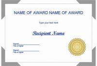 Powerpoint Award Certificate Template 7