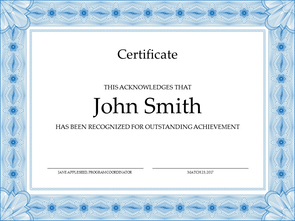 Powerpoint Certificate Templates Free Download 5