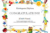 Preschool Graduation Certificate Template Free 0