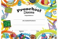 Preschool Graduation Certificate Template Free 2