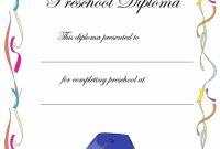 Preschool Graduation Certificate Template Free 5