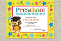 Preschool Graduation Certificate Template Free 7