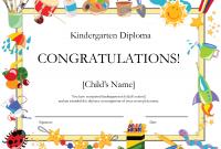 Preschool Graduation Certificate Template Free 9