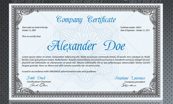 Professional Certificate Templates For Word 3