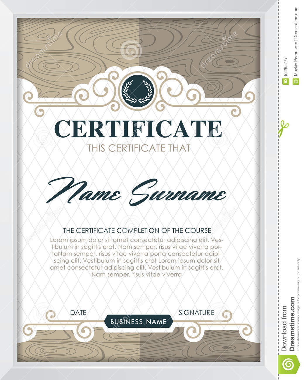 Qualification Certificate Template 2
