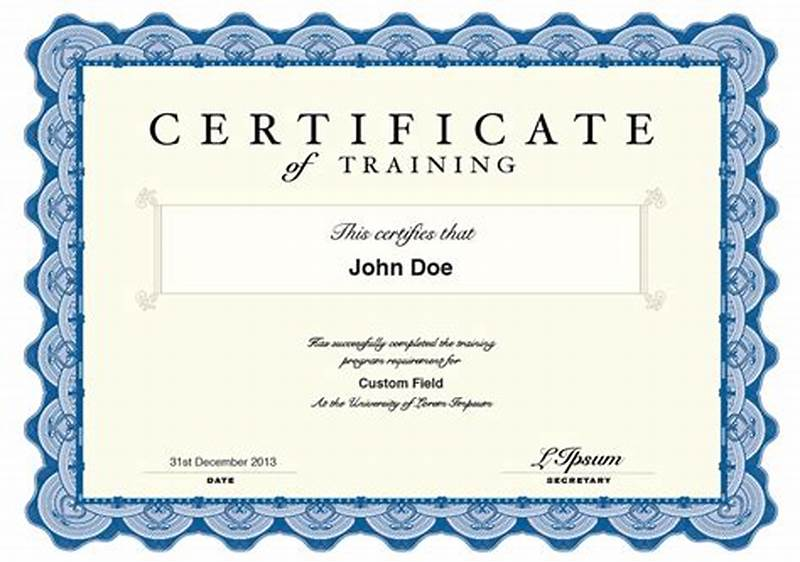 Qualification Certificate Template 8