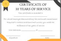 Recognition Of Service Certificate Template 5