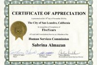 Recognition Of Service Certificate Template 6