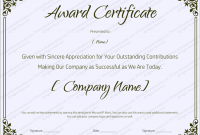 Recognition Of Service Certificate Template 8