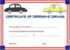 Safe Driving Certificate Template 11