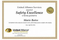Safety Recognition Certificate Template 3