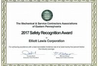 Safety Recognition Certificate Template 6