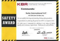 Safety Recognition Certificate Template 9
