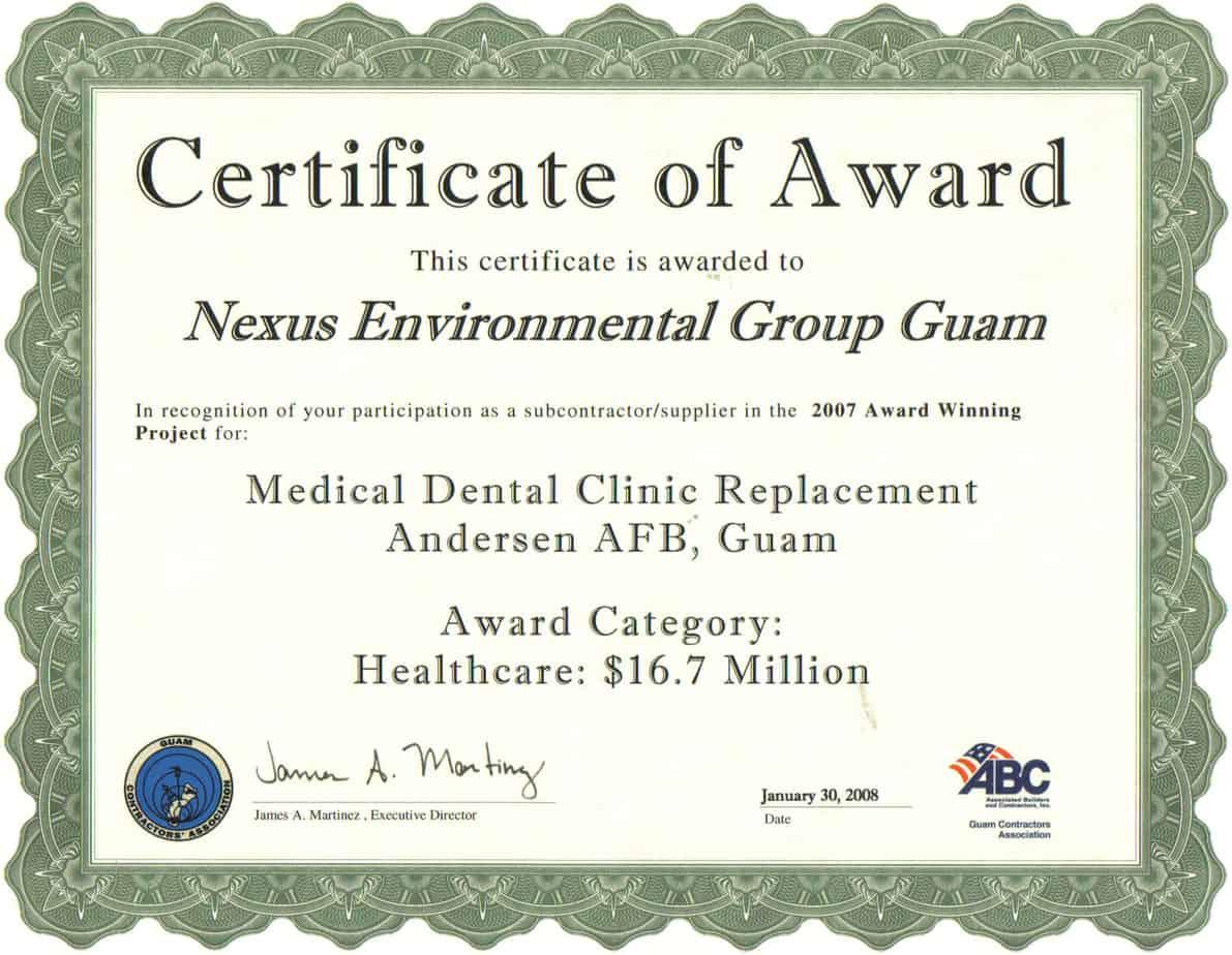 Sample Award Certificates Templates 10