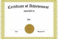 Blank Appreciation Certificates Templates