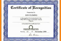 Sample Award Certificate Wording