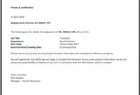 Sample Certificate Employment Template 2