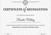 Sample Certificate Of Recognition Template 10