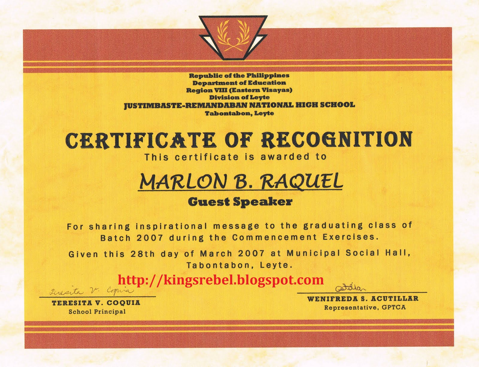 Sample Certificate Of Recognition Template 12