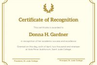 Sample Certificate Of Recognition Template 7