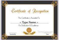 Sample Certificate Of Recognition Template 8