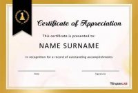 Sample Certificate Of Recognition Template 9