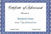 Scholarship Certificate Template Word 3