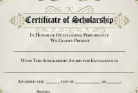 Scholarship Certificate Template Word 5
