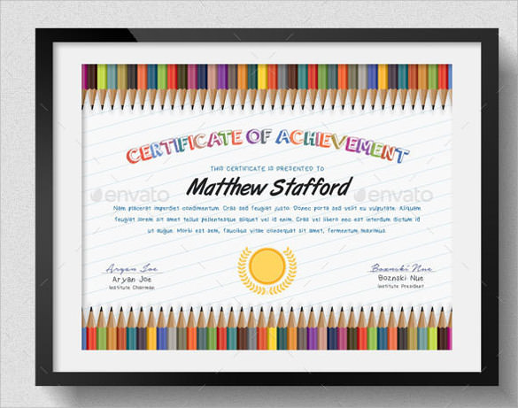 School Certificate Templates Free 8