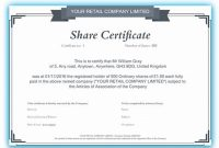 Share Certificate Template Companies House 10
