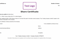 Share Certificate Template Companies House 2