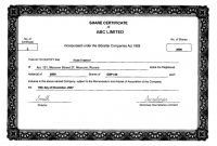 Share Certificate Template Companies House 7
