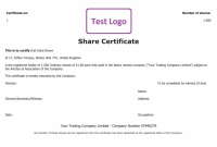 Share Certificate Template Pdf 12