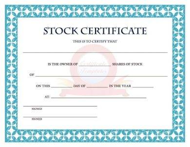 Share Certificate Template Pdf 4