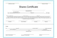 Shareholding Certificate Template 10