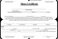 Shareholding Certificate Template 2