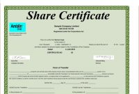 Shareholding Certificate Template 3