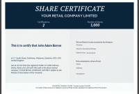 Shareholding Certificate Template 4