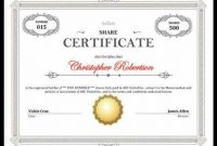 Shareholding Certificate Template 8