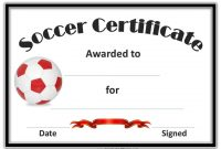 Soccer Award Certificate Templates Free 3
