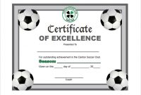 Soccer Award Certificate Templates Free 4