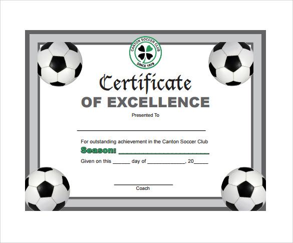 Soccer Award Certificate Templates Free 4