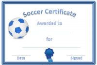 Soccer Award Certificate Templates Free 6