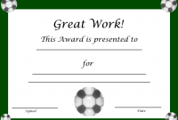 Soccer Award Certificate Templates Free 7