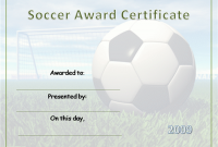Soccer Award Certificate Templates Free 9