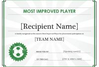 Soccer Certificate Templates for Word 10