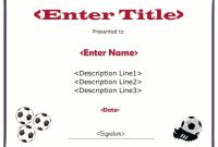 Soccer Certificate Templates for Word 11